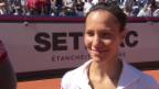 Video «Gstaad-Finalistin Golubic: «Vor lauter Glück merke ich die Müdigkeit gar nicht»» abspielen