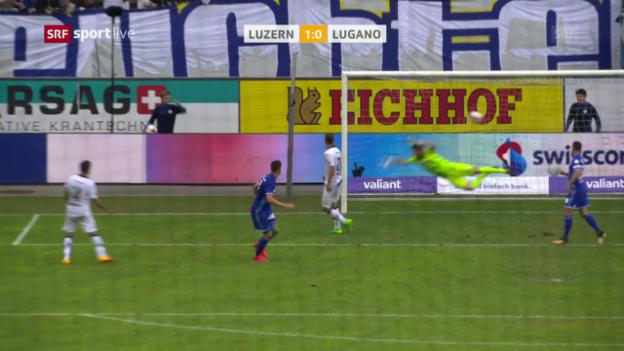 Video «Juric mit später Luzerner Erlösung gegen Lugano» abspielen