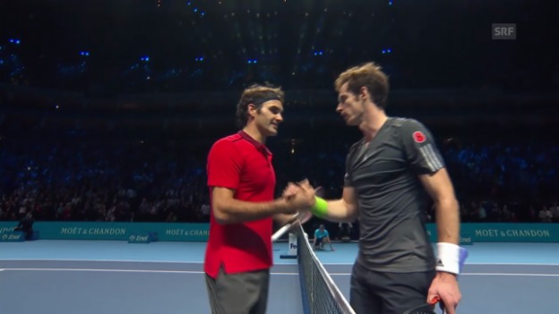 Video «Tennis: ATP Finals, Federer-Murray» abspielen