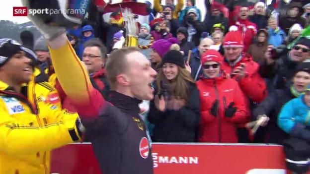 Video «Bob: WM in Winterberg, Rang 4 für Hefti» abspielen