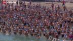 Video «Grosser Andrang zur Zürcher See-Überquerung» abspielen