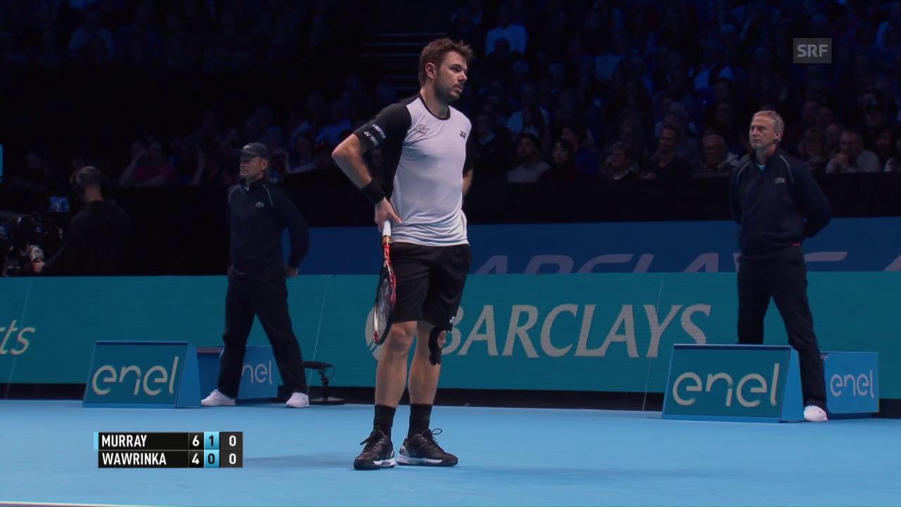 Die Live-Highlights aus Wawrinka - Murray