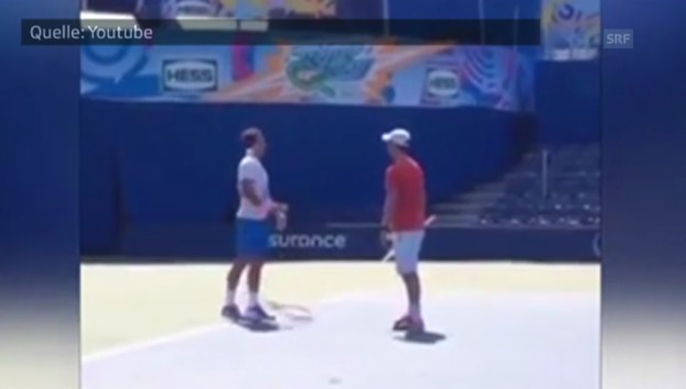 Video «Das missglückte Imitat von Roger Federer» abspielen