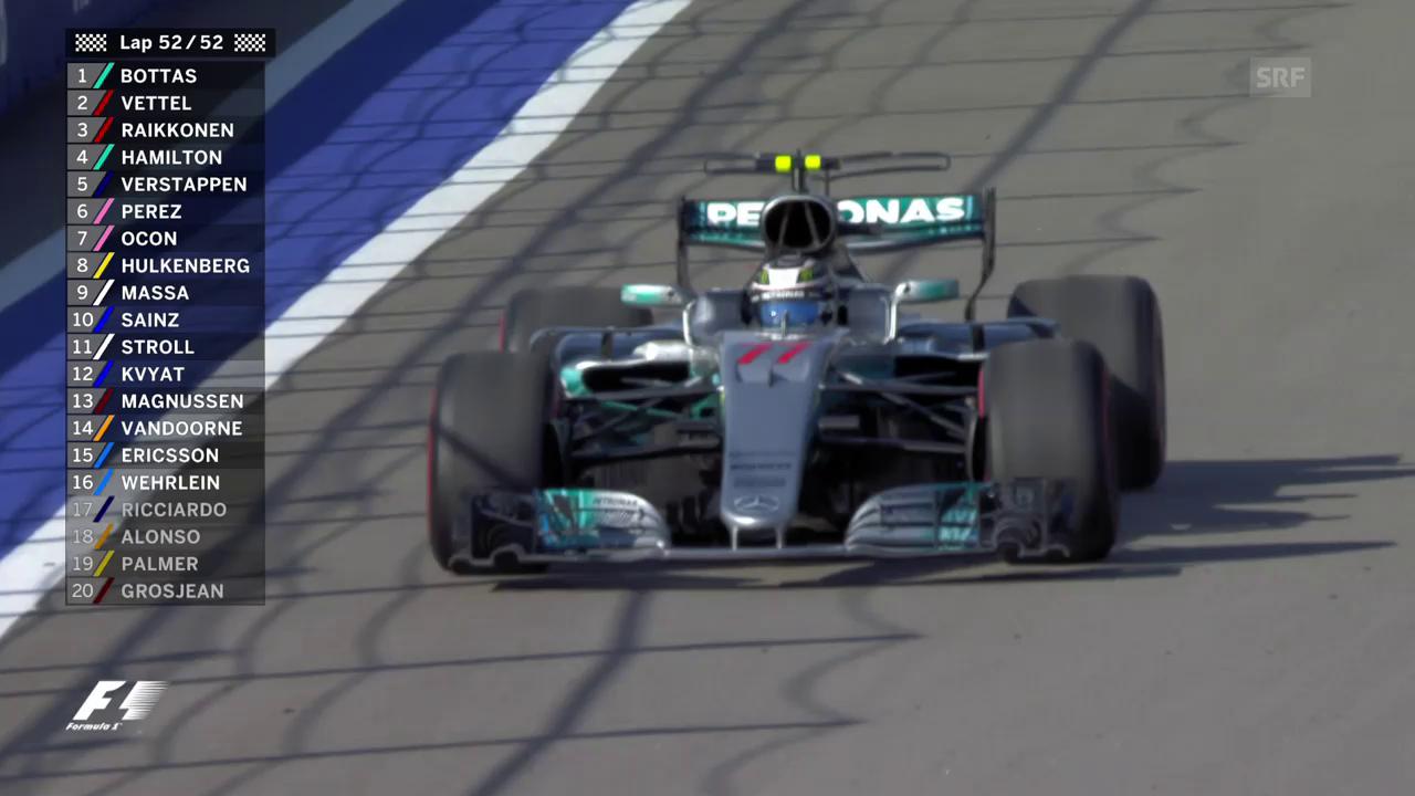 Bottas fährt zum ersten Mal als Sieger ein