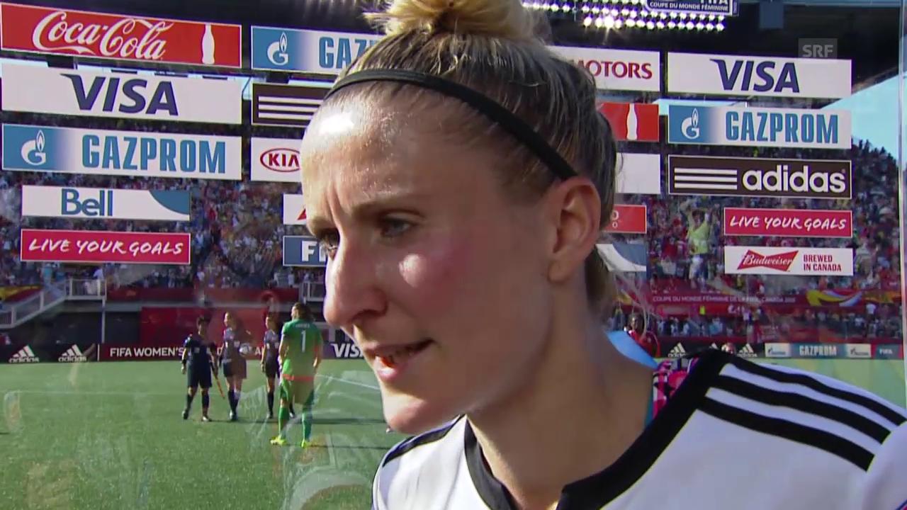 Fussball: Frauen-WM in Kanada, Achtelfinal, Deutschland - Schweden, Anja Mittag im Interview