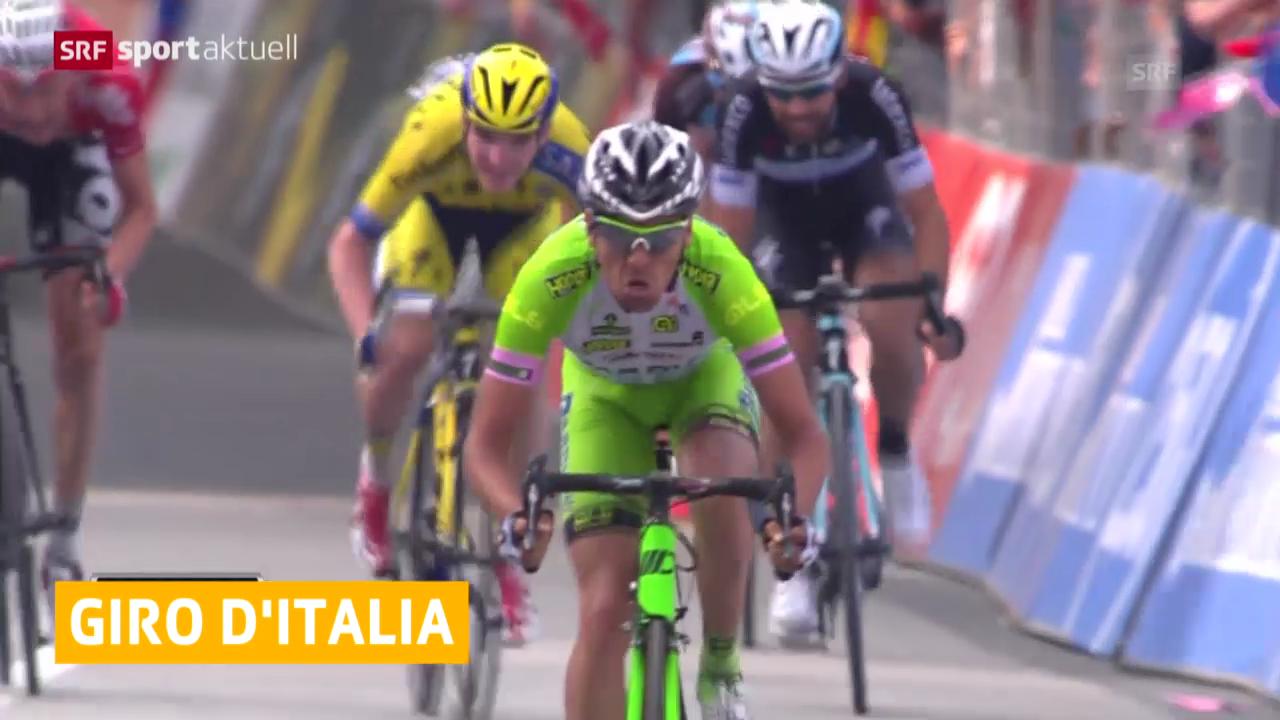 Rad: Stefano Pirazzi gewinnt 17. Etappe des Giro d'Italia