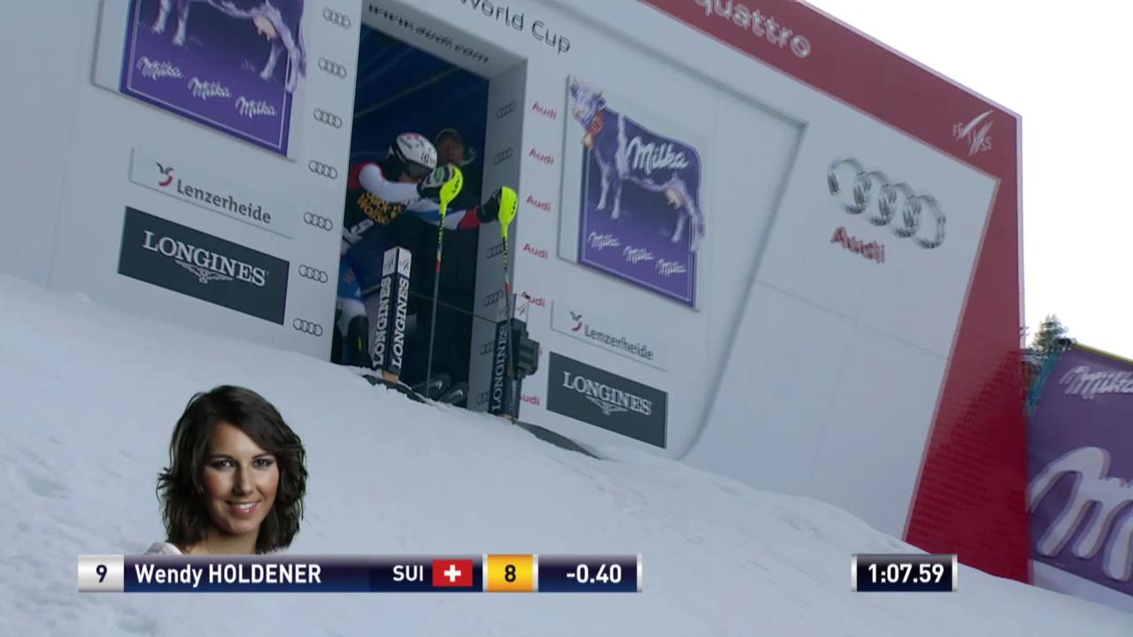 Ski Alpin: Slalom Lenzerheide, 2. Lauf Holdener («sportlive», 15.03.2014)