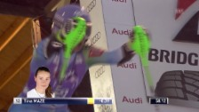 Video «Ski: 2. Lauf von Tina Maze» abspielen