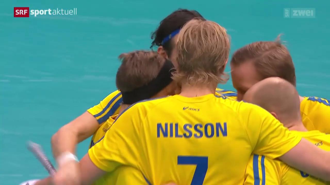 Unihockey: WM-Halbfinal Schweiz - Schweden