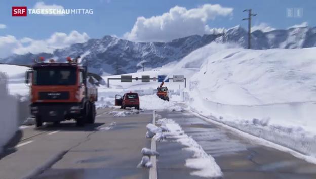Video «Alpenpässe bald wieder befahrbar» abspielen