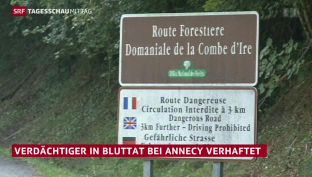 Video «Festnahme im Mordfall von Annecy» abspielen