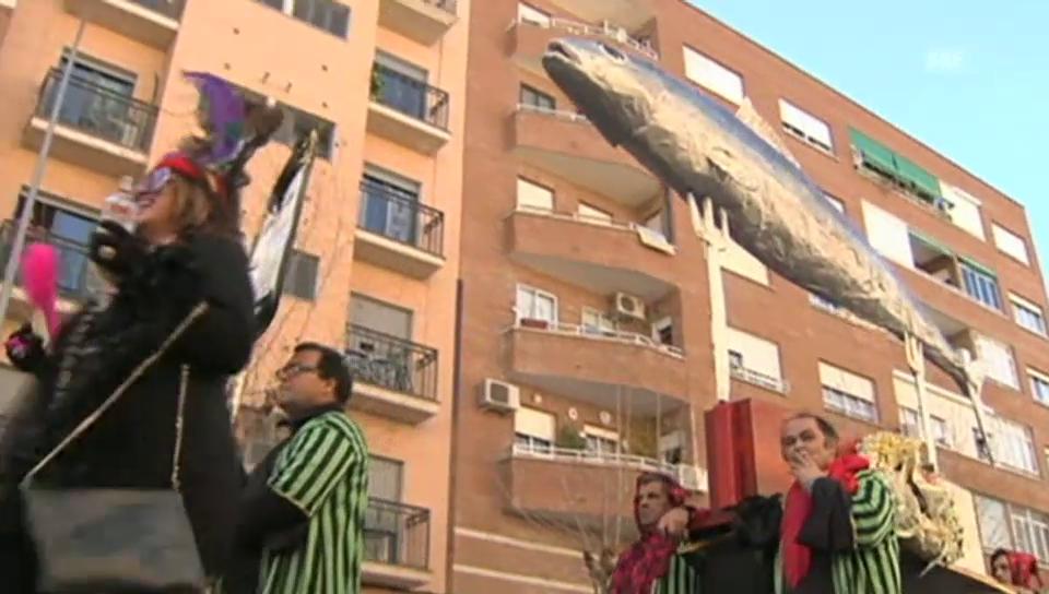 «El Entierro de la Sardina» in Badajoz