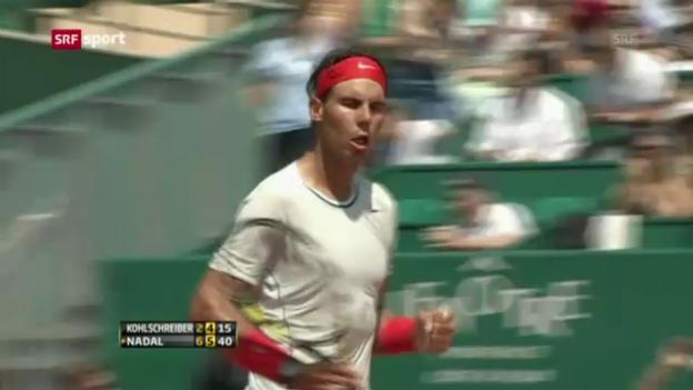 Video «ATP Monte Carlo: Achtelfinals» abspielen