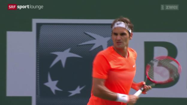 Video «Tennis: Déjà-vu für Federer bei Final-Niederlage in Indian Wells» abspielen