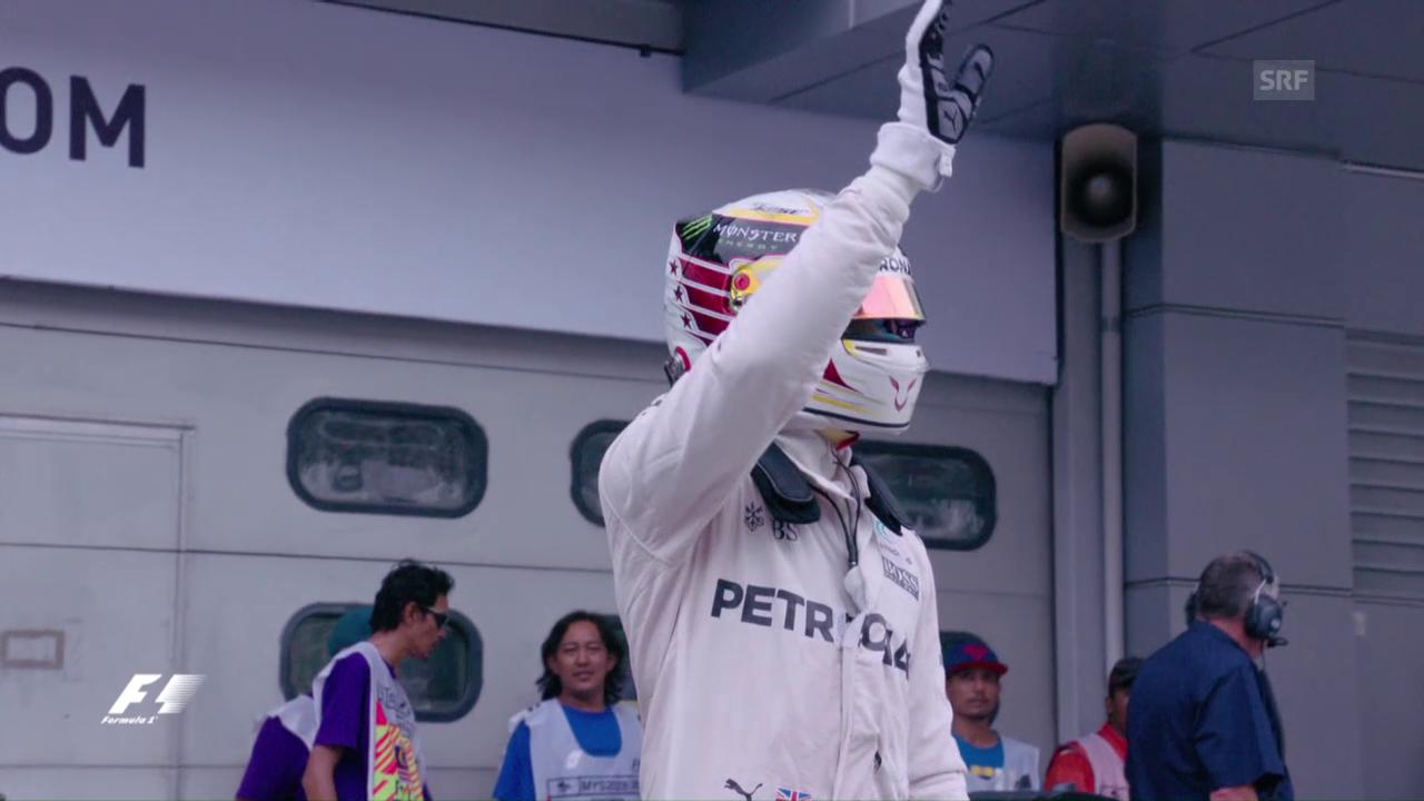 Hamilton deutlich vor Rosberg