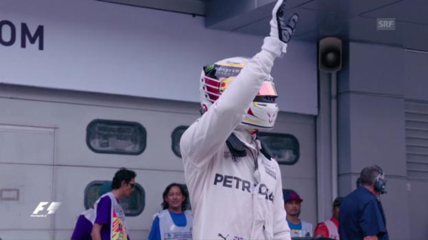 Video «Hamilton deutlich vor Rosberg» abspielen