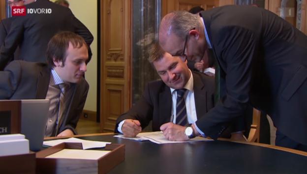 Video «Brunners Idee der Lohnkürzung erleidet Schiffbruch» abspielen