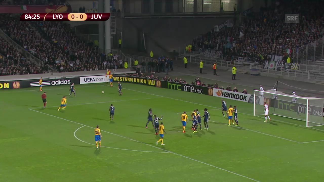 Das Tor von Juventus Turin in Lyon