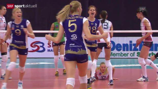 Video «Volleyball: CL, Volero Zürich - Omsk («sportaktuell»)» abspielen