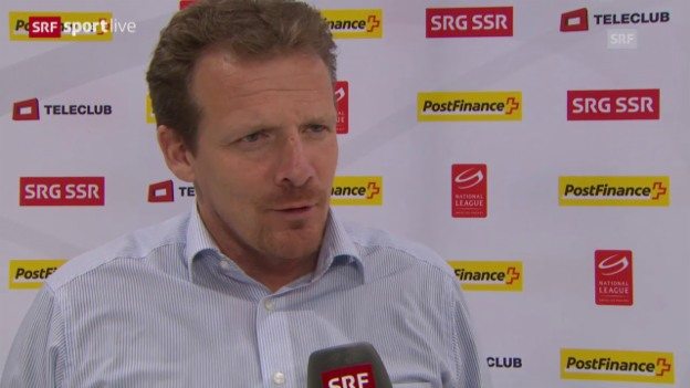 Video «Eishockey: Playoff, 1/4, Game 5, ZSC-Biel, Interview mit Kevin Schläpfer» abspielen