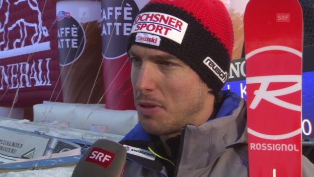 Video «Ski: Abfahrt Santa Caterina, Interview Carlo Janka» abspielen