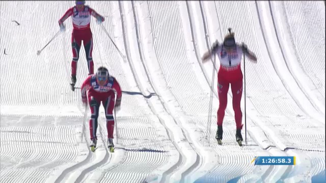Nordisch-WM: 30 km Frauen, Schlussphase