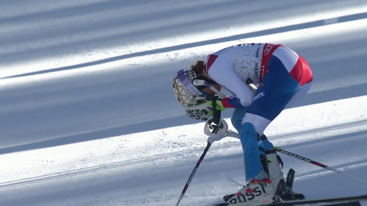 Ski alpin: WM 2015 in Vail/Beaver Creek, Slalom der Frauen, Out von Michelle Gisin im 2. Lauf