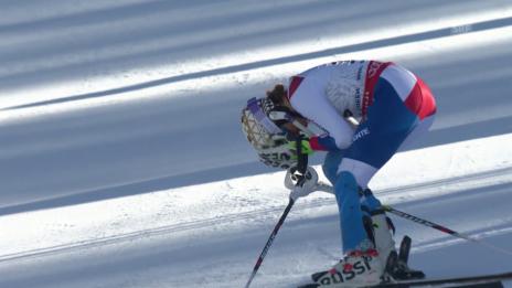 Video «Ski alpin: WM 2015 in Vail/Beaver Creek, Slalom der Frauen, Out von Michelle Gisin im 2. Lauf» abspielen