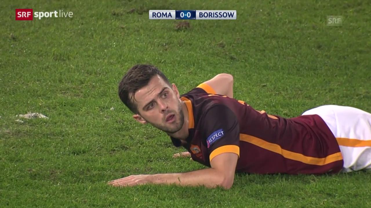 Fussball: CL, Zusammenfassung Roma-BATE