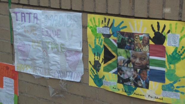 Video «Hilfloses Warten auf Neuigkeiten von Mandela (engl.)» abspielen