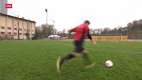 Video ««Tscheggsch de Pögg»: Wie entsteht ein Flatterball im Fussball?» abspielen
