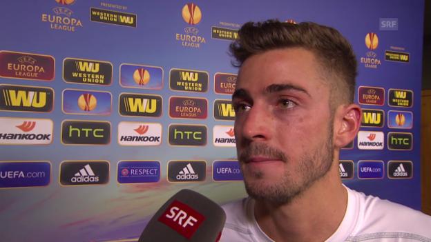 Video «Fussball: Interview mit FCZ-Spieler Marco Schönbächler» abspielen