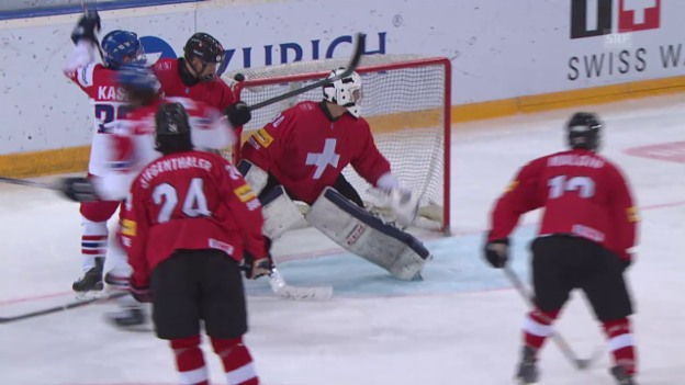Video «Eishockey: U18-WM, Schweiz - Tschechien» abspielen