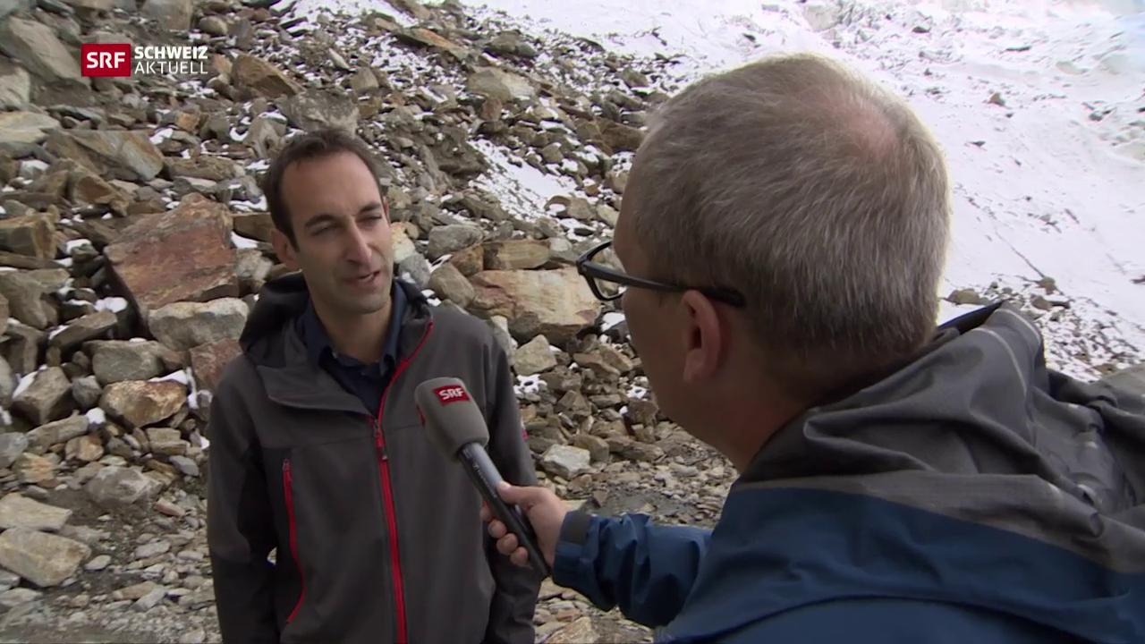 Gletscherexperte am Triftgletscher