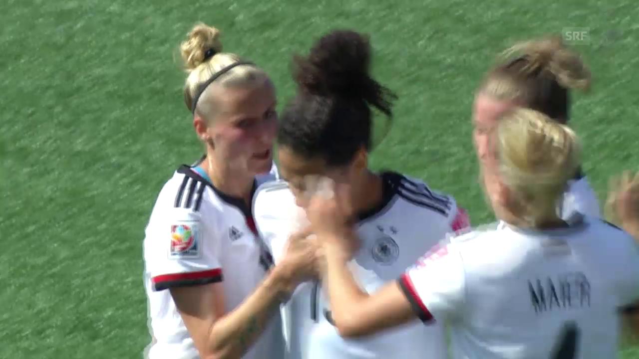 Fussball: Frauen-WM 2015, Achtelfinal Deutschland - Schweden