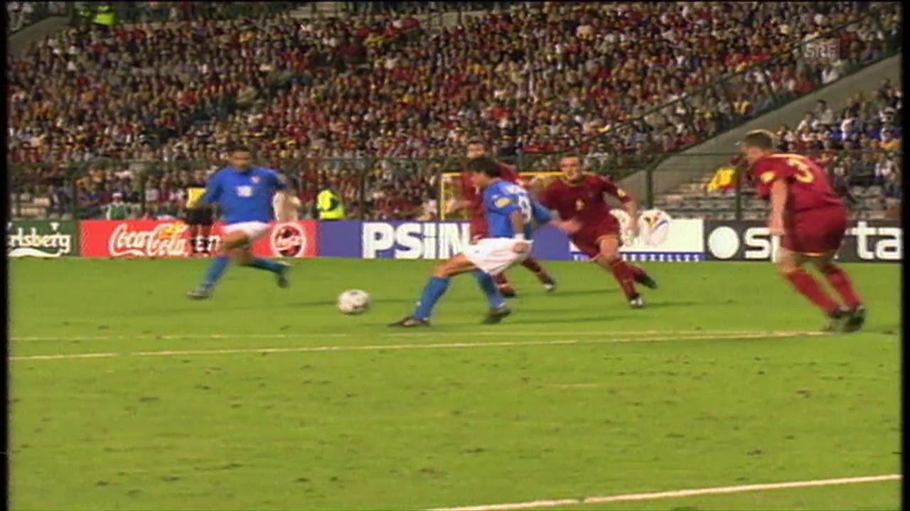 Rückblick auf Belgien - Italien an der EM 2000