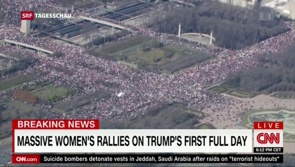 Proteste gegen Donald Trump in Washington