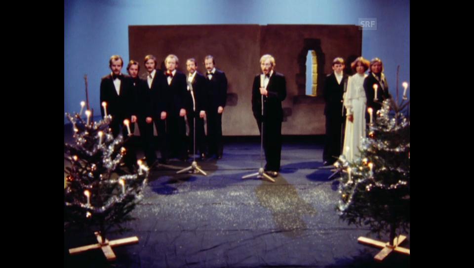 1977: «Kassensturz»-Redaktion singt «White Christmas»