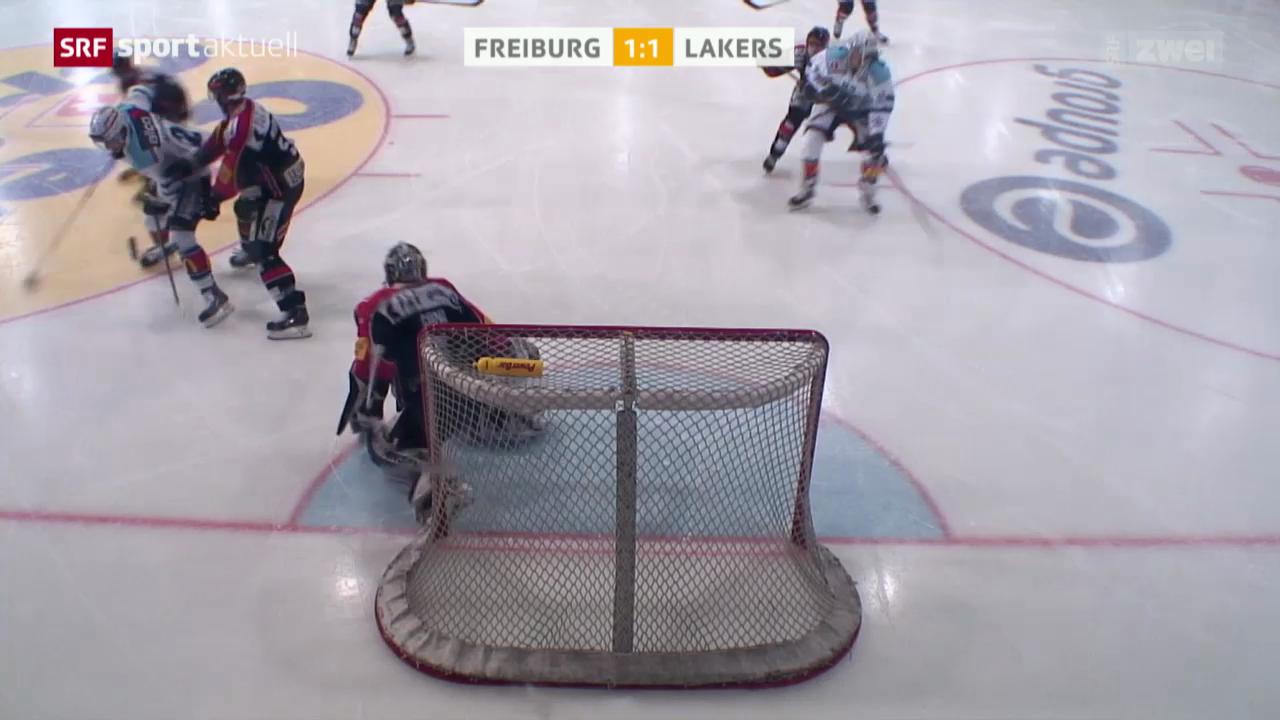 Eishockey: NLA, Freiburg - Lakers