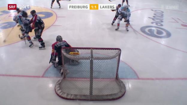 Video «Eishockey: NLA, Freiburg - Lakers» abspielen