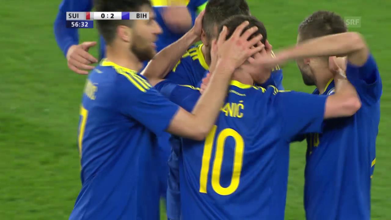 Schweiz-Bosnien 0:2 (Live-Highlights)