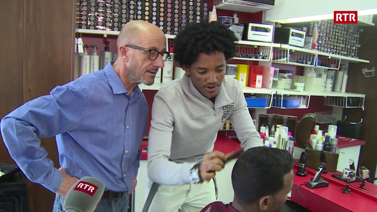 Il coiffeur da l'Eritrea pudess senz'auter era lavurar tar nus