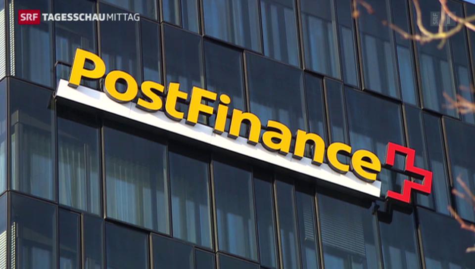 Postfinance (Tagesschau am Mittag vom 01. September 2015)