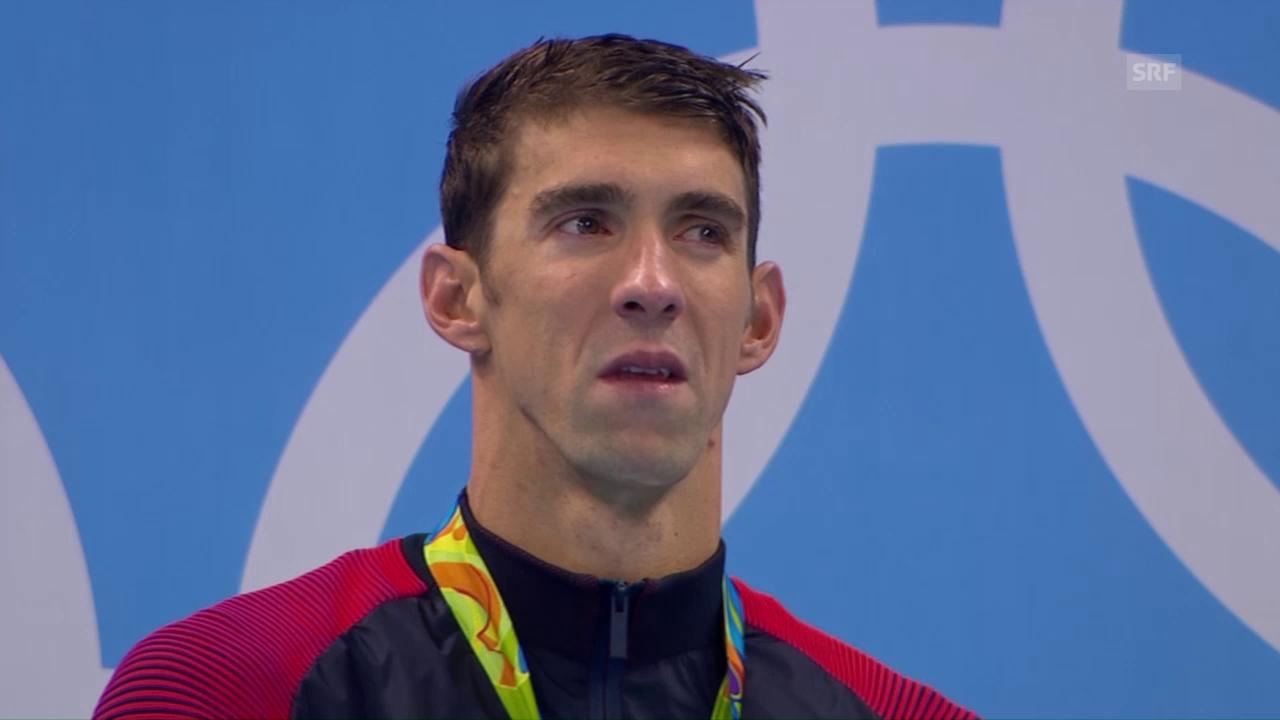 Nach Gold Nummer 20: Grosse Emotionen bei Phelps
