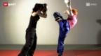 Video «Zwischen Bibel und Mundschutz – das Porträt einer unkonventionellen Kickboxerin» abspielen