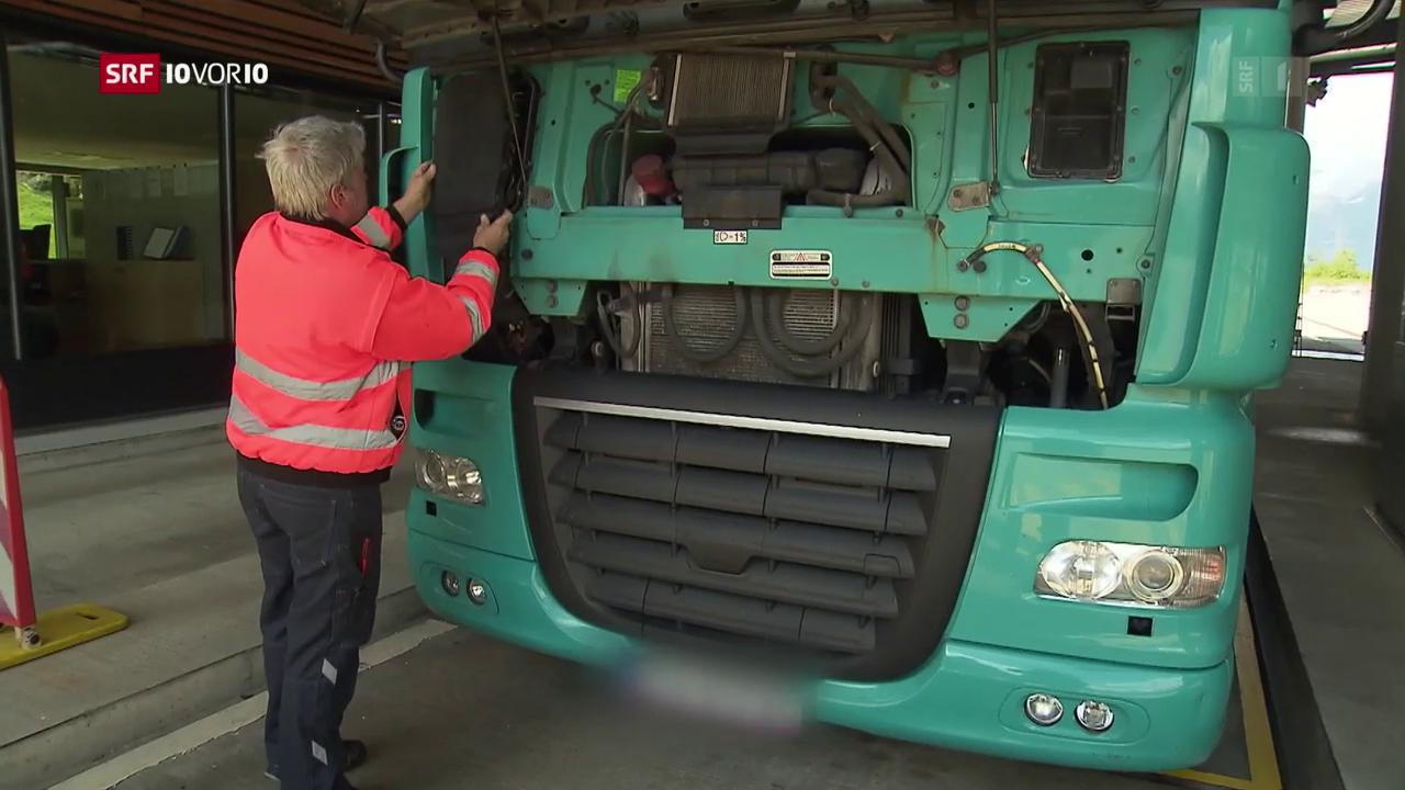 Tricksende Lastwagenfahrer