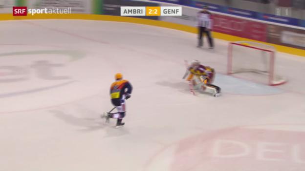 Video «Eishockey: Ambri - Genf» abspielen