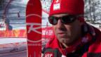 Video «Ski, Männer-Abfahrt, Training, Interview Défago» abspielen