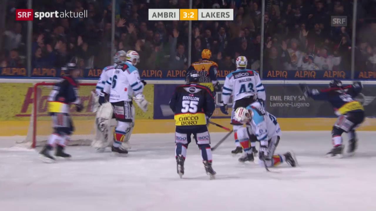 Eishockey: NLA-Playout-Final, 3. Runde, Ambri - Lakers