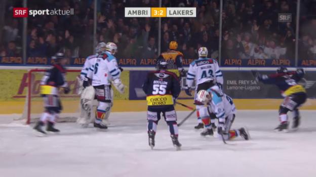 Video «Eishockey: NLA-Playout-Final, 3. Runde, Ambri - Lakers» abspielen